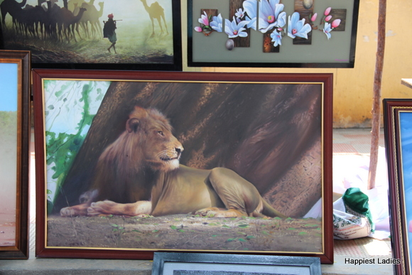wild life lion oil painting
