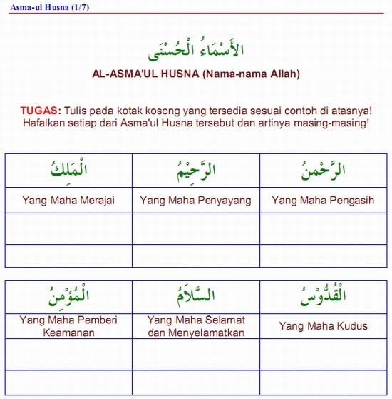 LKB (Lembar Kegiatan Belajar) Bahasa Arab: 5 Koleksi Awal