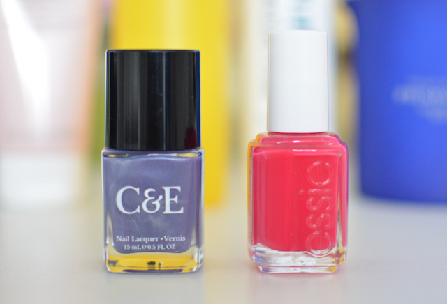 Crabtree & Evelyn Wisteria,  Essie Watermelon, Nail polish