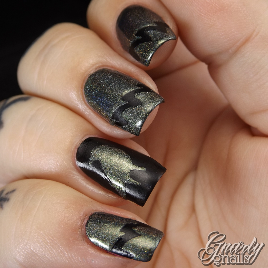 Pretty Jelly & Sticky Nails Maleficent Duo Review - Gnarly Gnails