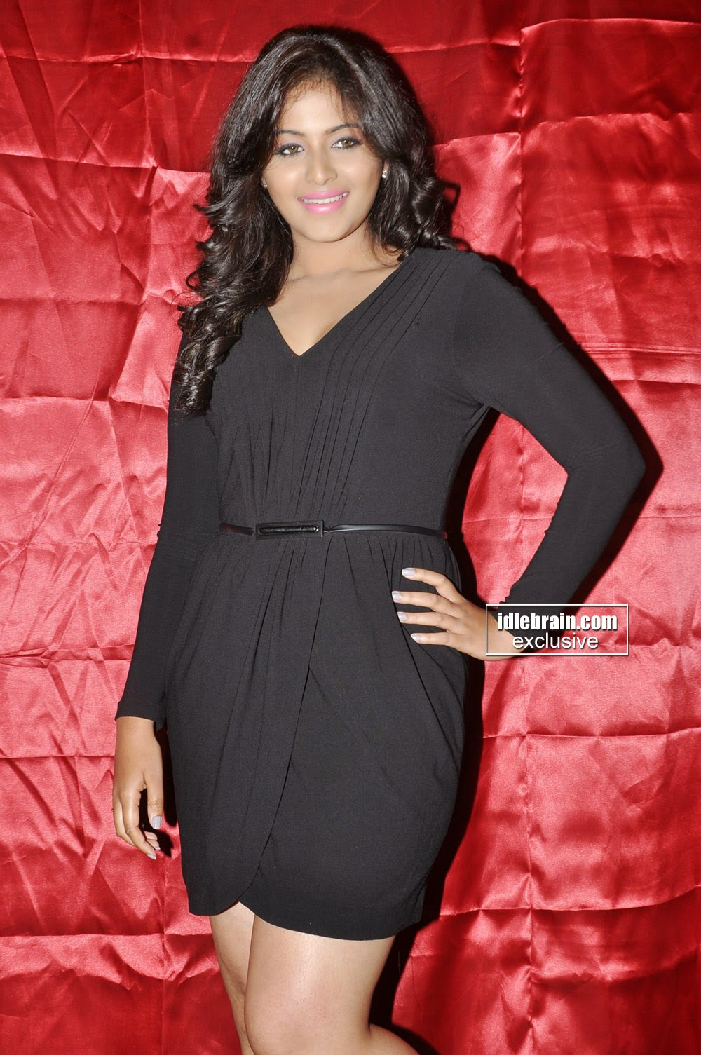 Anjali black short dress