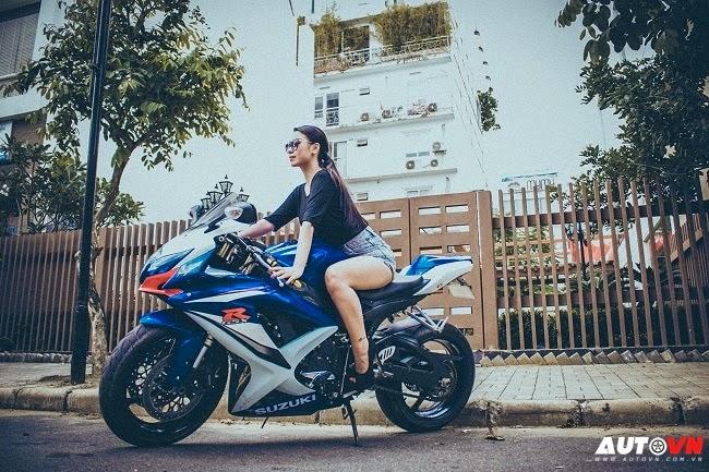 Người đẹp Việt thuần phục Suzuki GSX-R