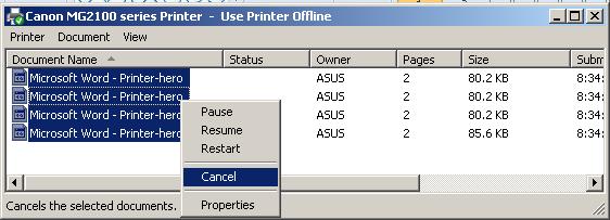 Cara Menghentikan Printer yang Sedang Melakukan Proses Print