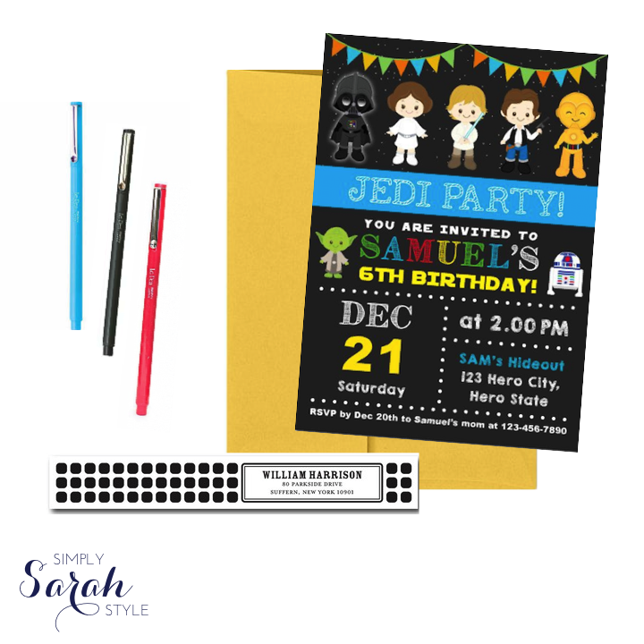 High Quality Star Wars Invitations By KidzParties On Etsy / Tiny Prints Address Labels