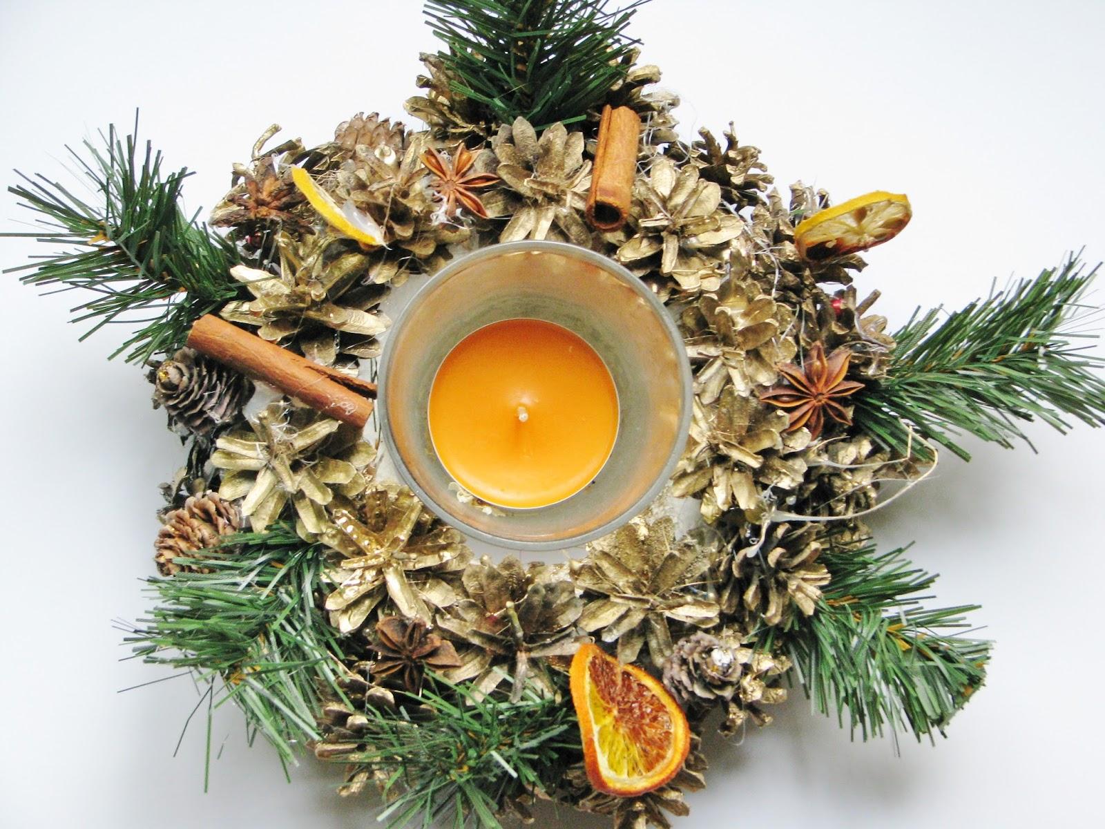 Znalezione obrazy dla zapytania ozdoby świąteczne z szyszek