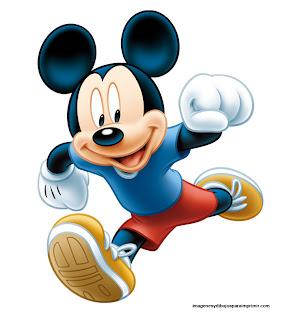 Mickey deportista para imprimir