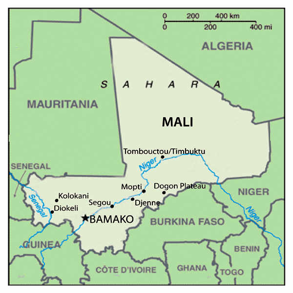 Mali Map Of Rivers Map Of Southern Africa Rivers Map Of India - Map of mali
