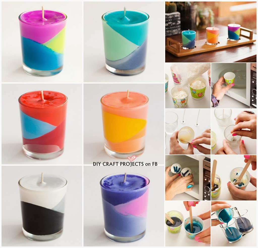 How to make colour block crayons candles diy craft projects for Diy candle crafts