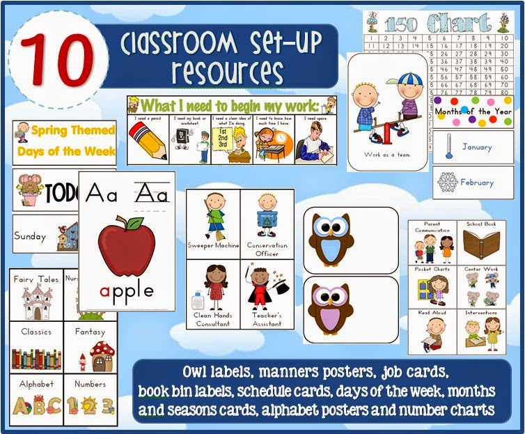 Classroom Set-up/Organization BUNDLE from Clever Classroom