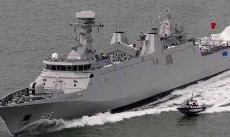 Kapal PKR 10514 yang dibeli TNI AL dari Belanda.