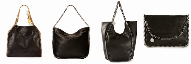 """Three of these are Stella McCartney bags for $1,617-$1,870 and one is from Steve Madden for $57.99. Can you guess the """"imposter"""" handbag? Click the links below to see if you are correct."""