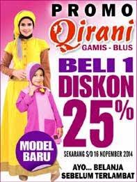 QIRANI BELI 1 DISKON 25%