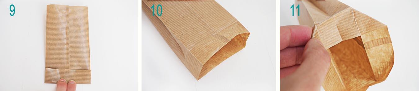 paso a paso bolsa papel