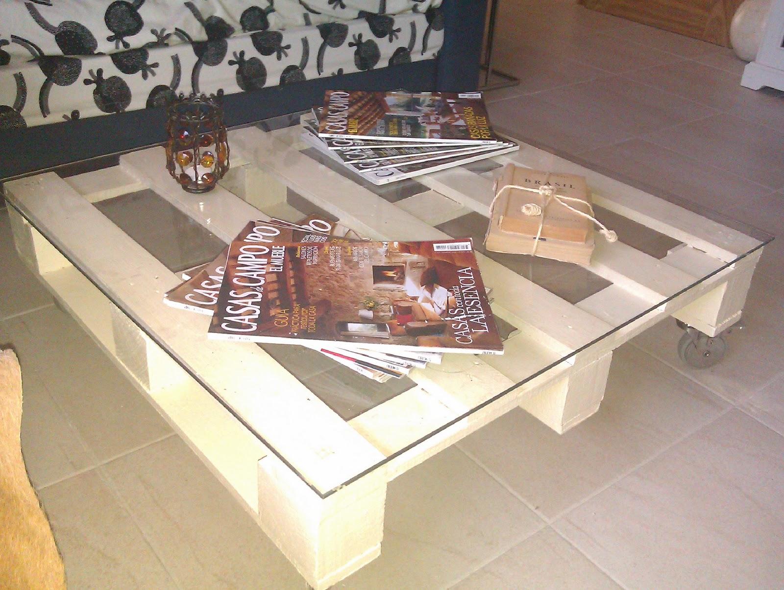 C mo hacer una mesa con un palet de madera industrial con - Mesas de palet ...