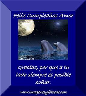 Tarjeta de Cumpleaños Romantica con Delfines