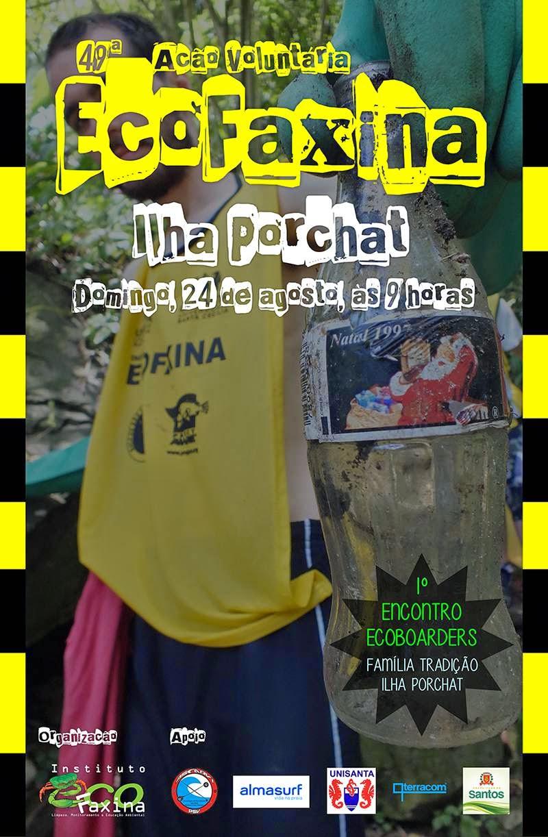 Cartaz 49ª Ação Voluntária EcoFaxina - Ilha Porchat
