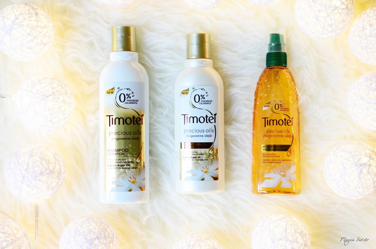 pielęgnacja włosów, kosmetyki do włosów timotei, olejki do włosów, Drogocenne Olejki
