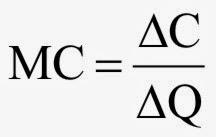 Biaya marginal (marginal cost) adalah