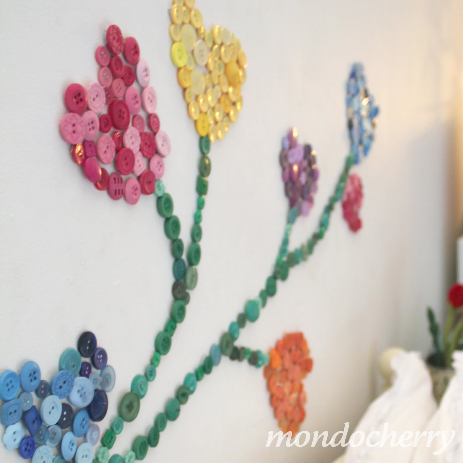 diy wall design with buttons - Simple Shapes Wall Design