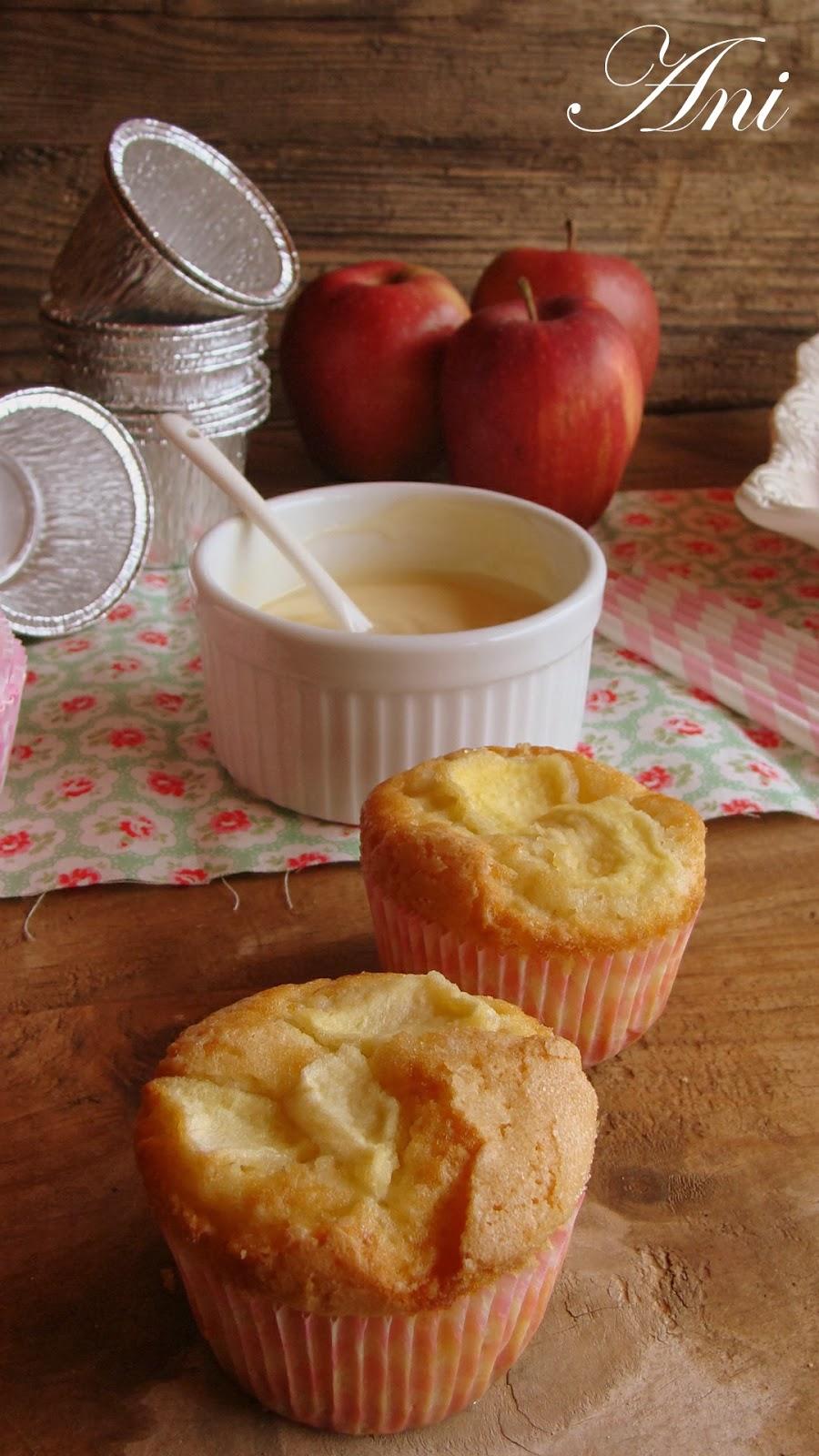 La cocina de ani magdalenas de manzana y crema pastelera for Cocina 5 ingredientes jamie