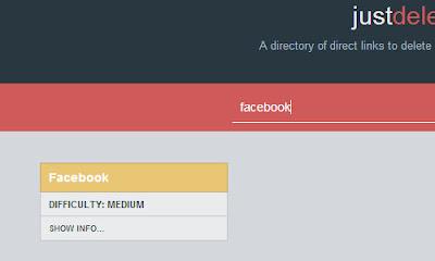 Just Delete Me - Facebook