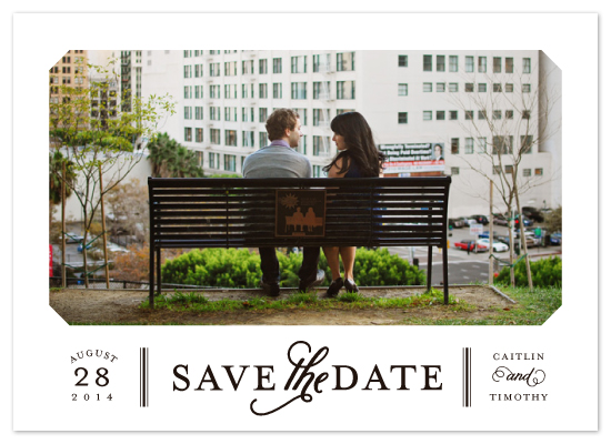 save the date photo card, modern save the date, engagement announcement
