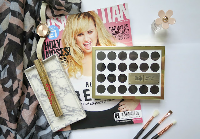 Urban Decay Gwen Stefani Eye Shadow Palette Neutral Favourite Swatch Flat Lay