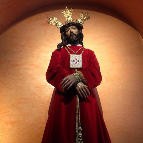 NUESTRO PADRE JESUS CAUTIVO Y RESCATADO PRESIDIENDO SU RETABLO.