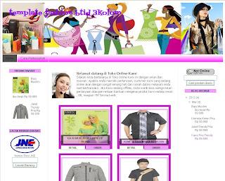 Blogger template fashion  2 dari tukang toko online