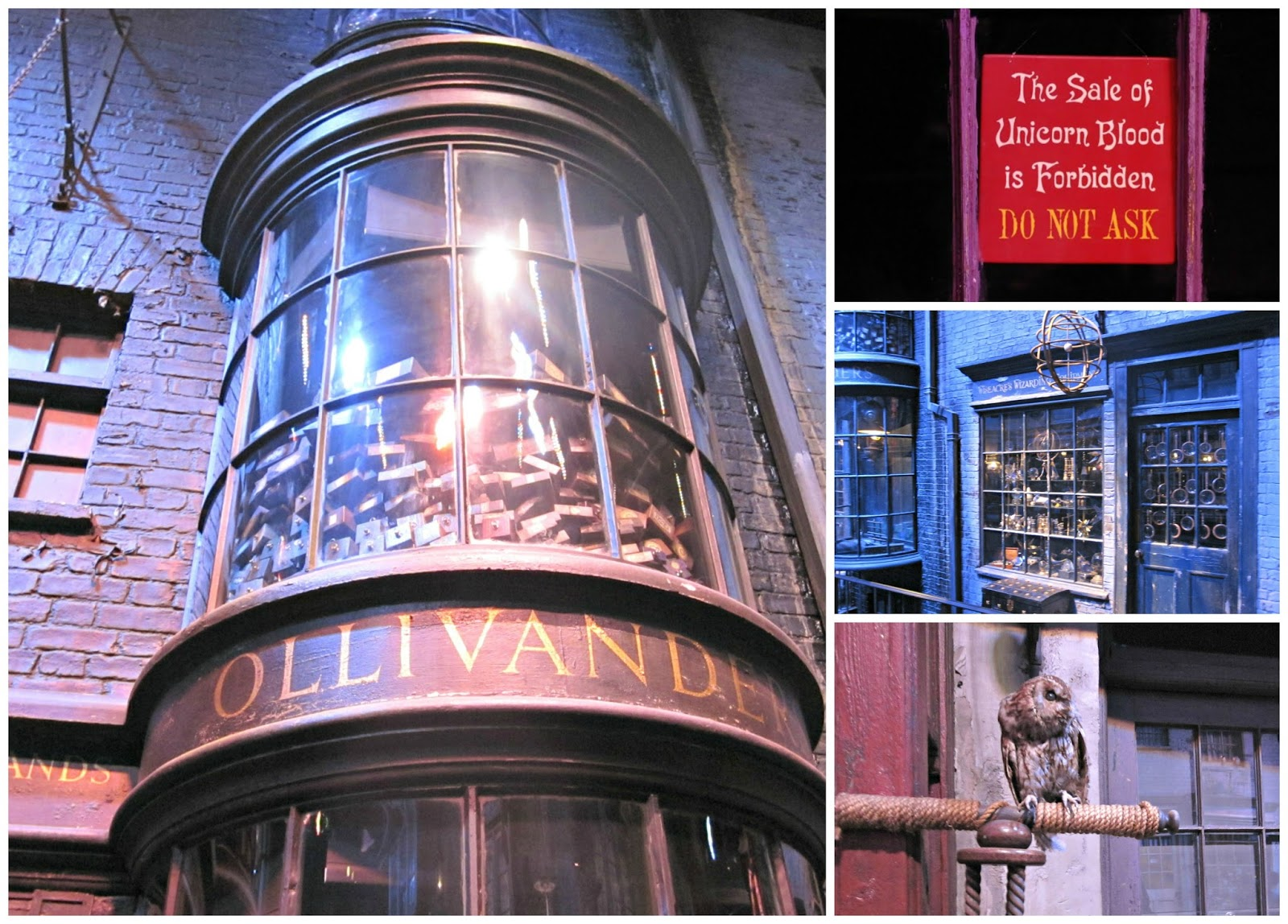 Diagon Alley at The Making Of Harry Potter Warner Brothers Studio Tour