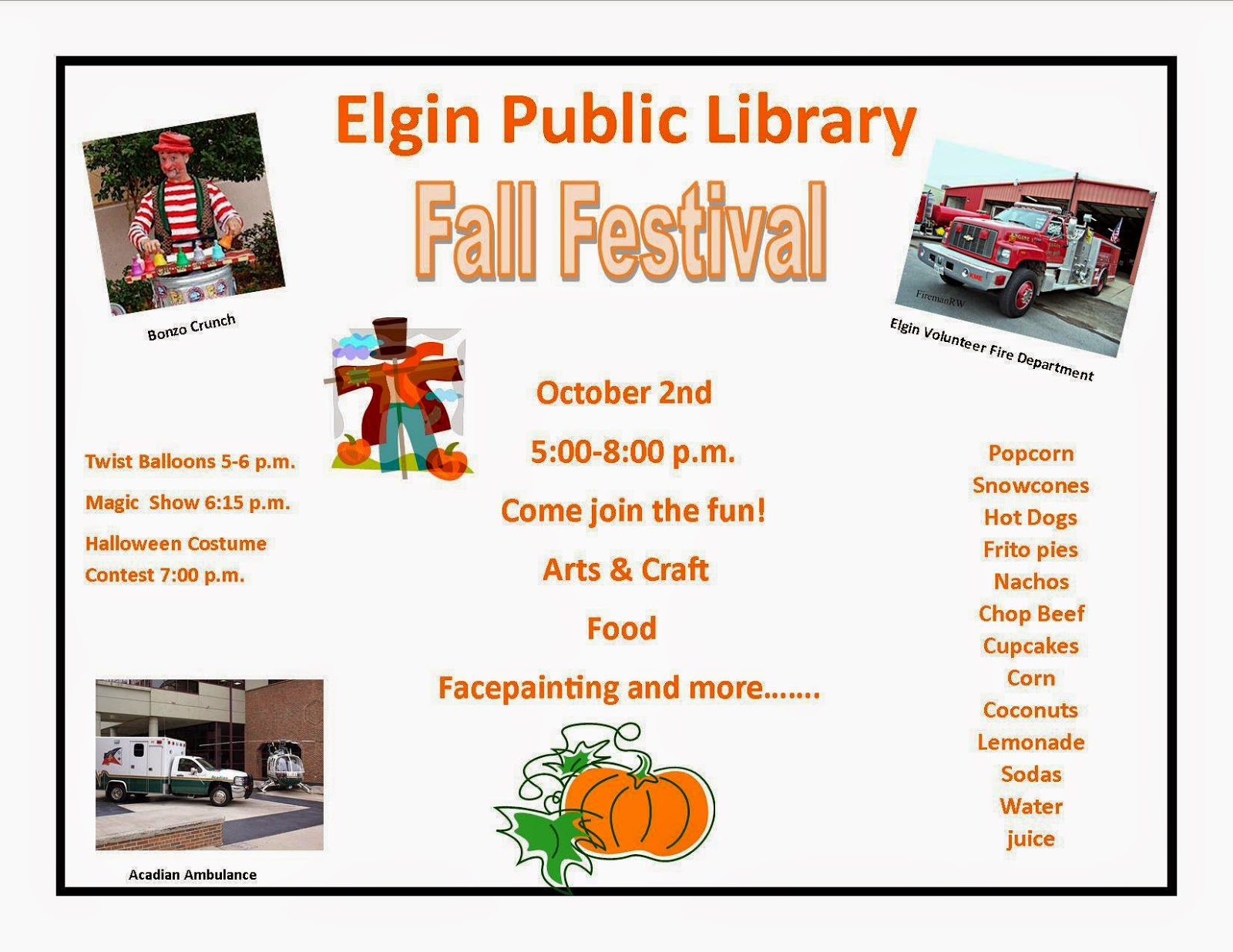 Elgin Public Library Fall Festival