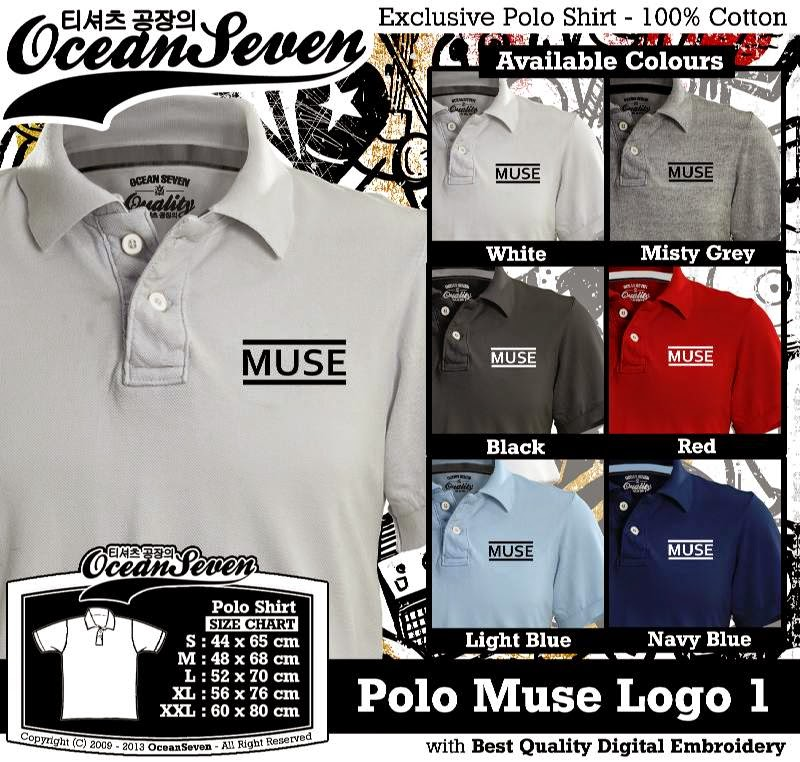 Kaos Polo Muse Logo 1