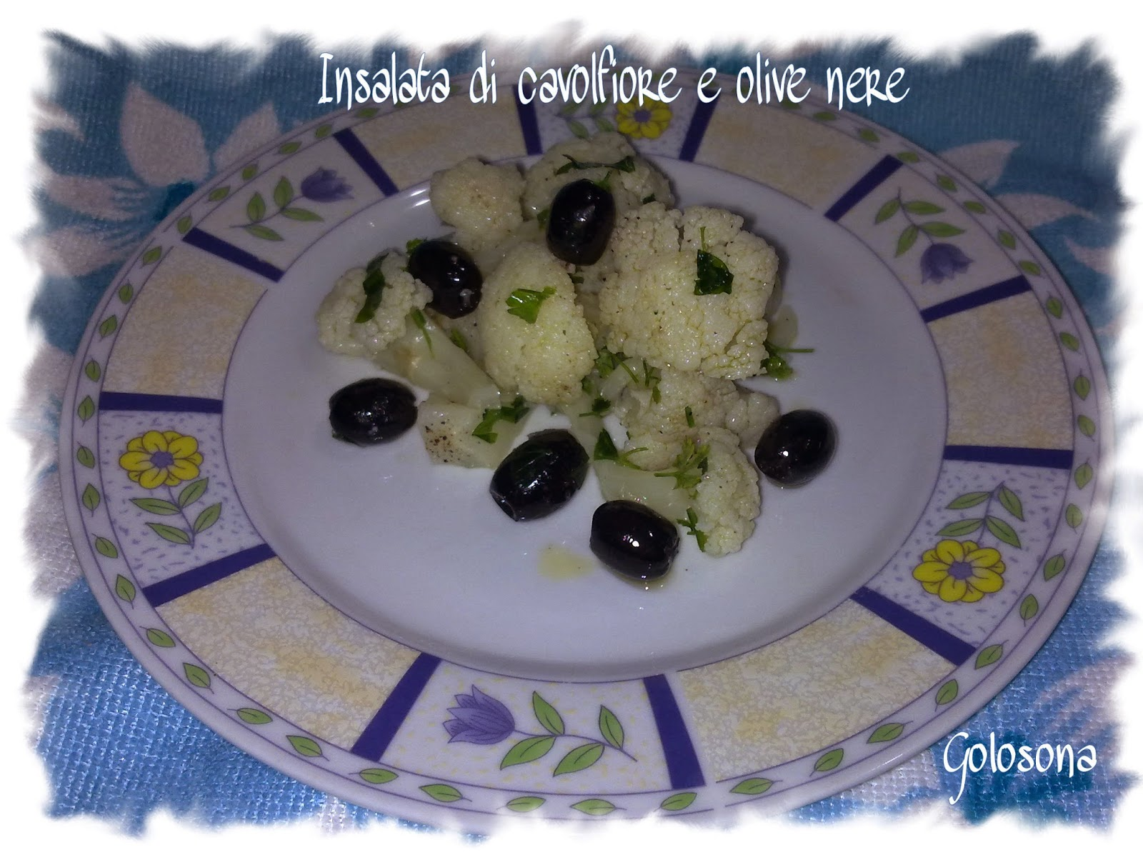 insalata di cavolfiore e olive nere