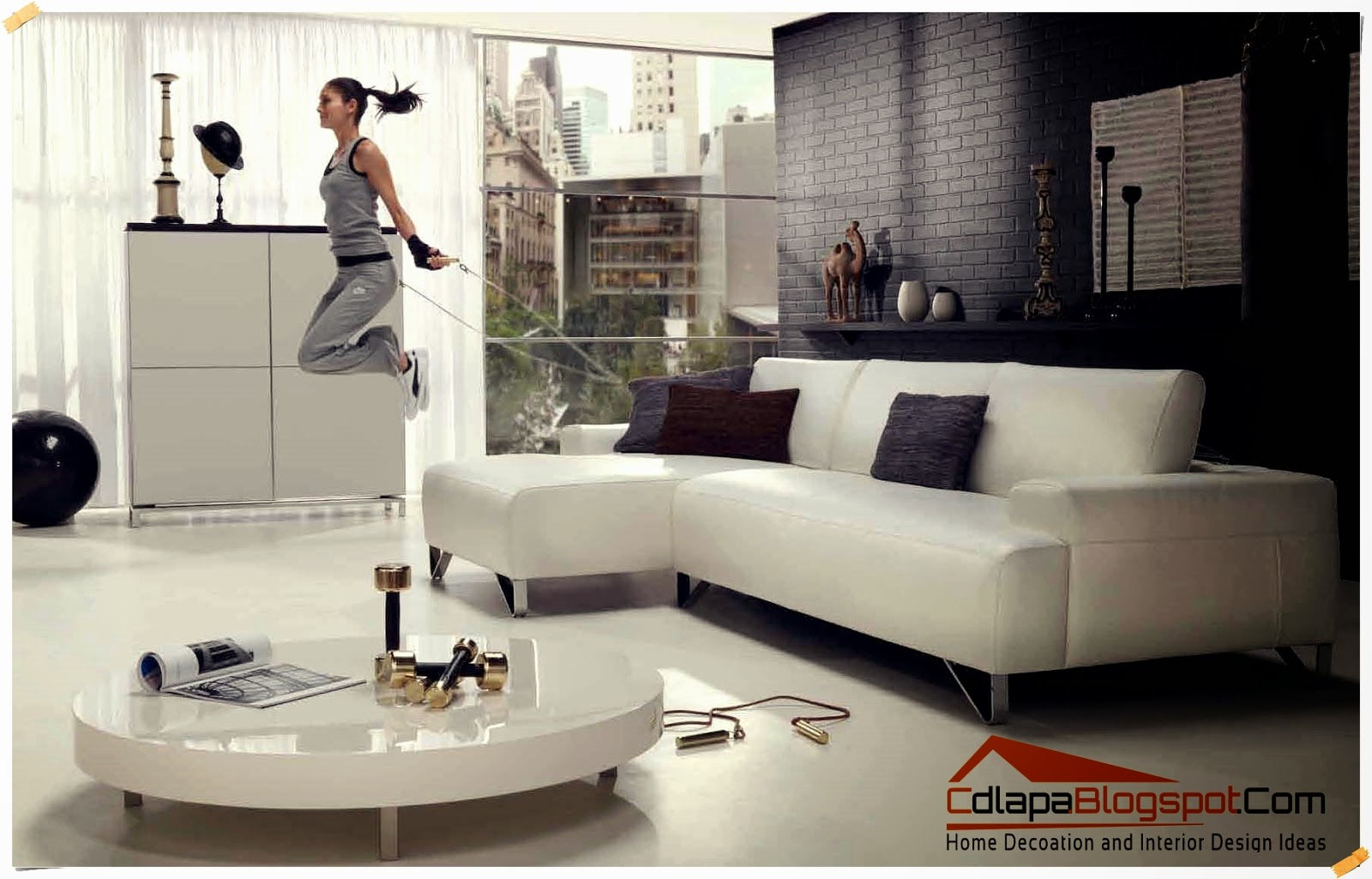 Home decoration and interior design ideas modern small for Modern sofa for small living room
