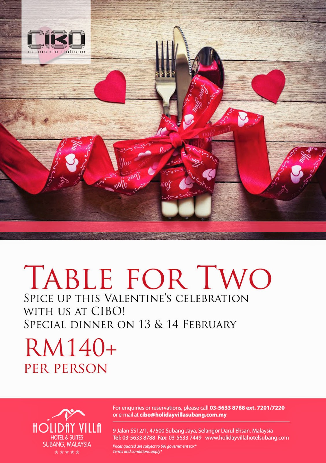 Valentine s sweet romance at holiday villa hotel suites for Romantic hotels for valentine s day