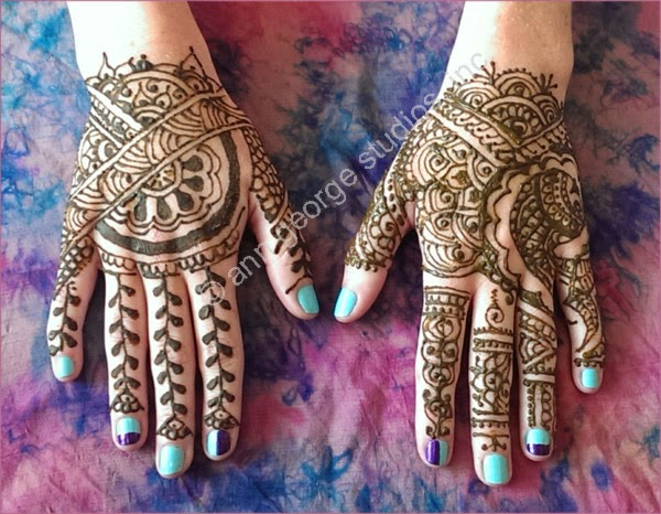 henna patterns for the back of the hands.