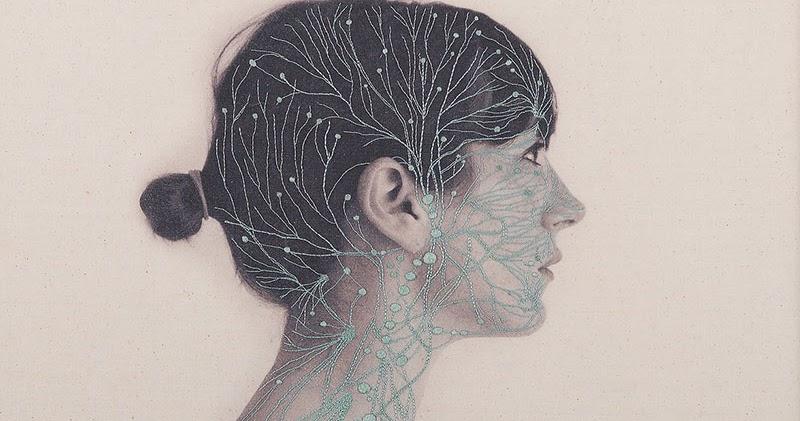 Bookbike Van Byografia : Anatomical embroideries by juana gomez