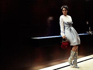 Monica Bellucci in the elevator