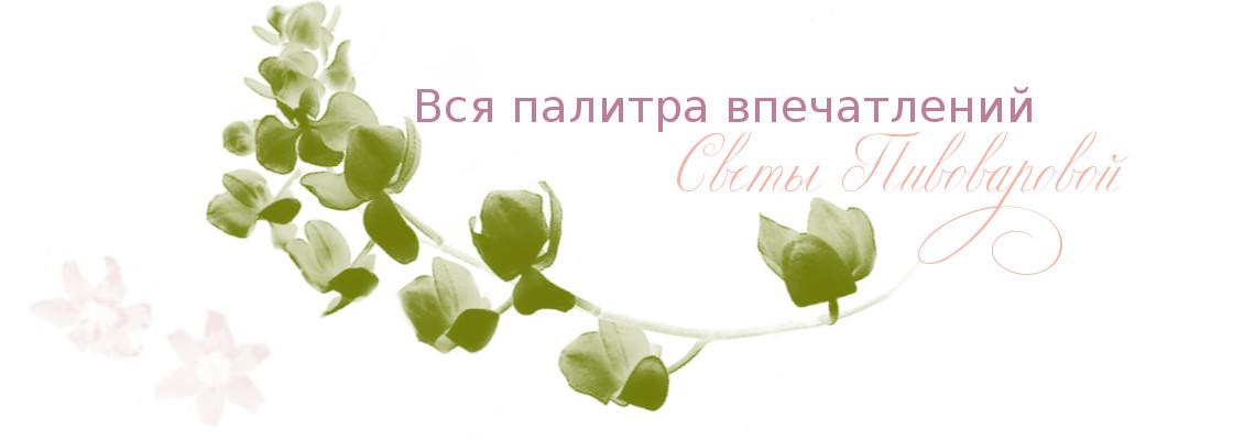 Пробная шапка блога. Растительные элементы. Блог Вся палитра впечатлений.