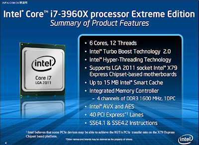 Intel i7-3960X Sandy Bridge-E