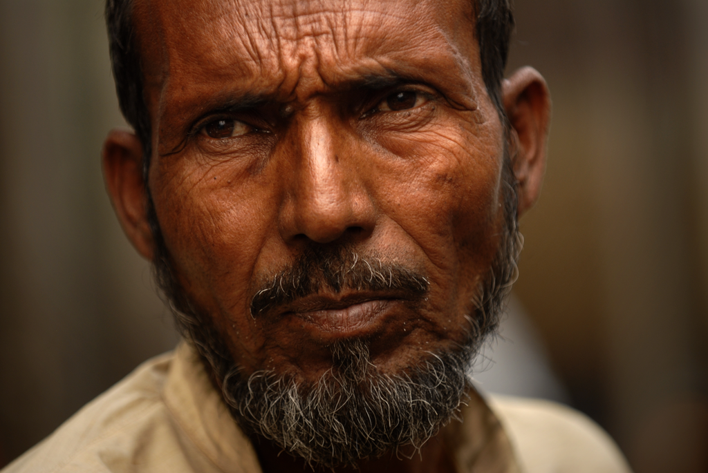 Portrait photo of a man in Delhi in India
