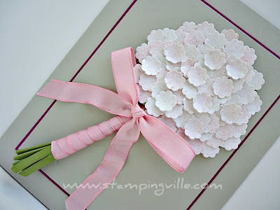 Bridal Bouquet Greeting Card Idea