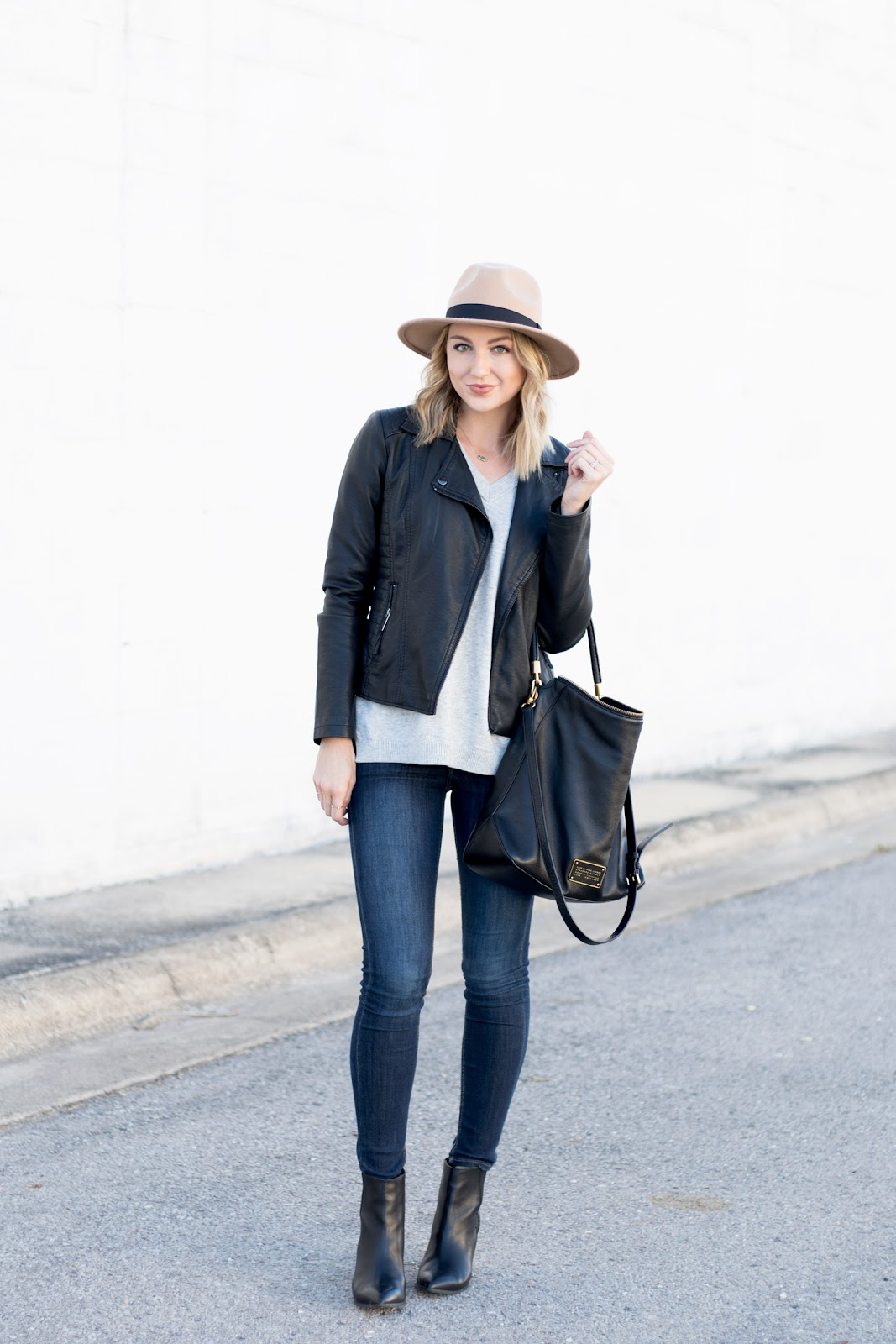 Black and gray outfit
