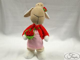 Ręcznie robiona owieczka z materiału