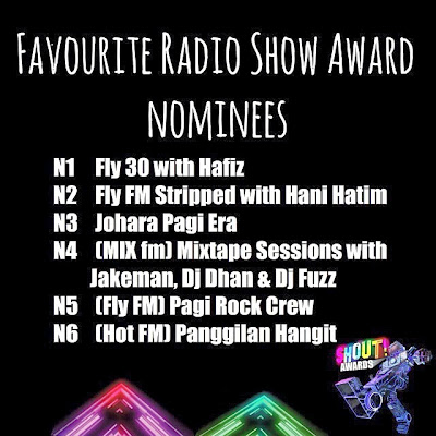 The Shout! Awards 2013 - Favourite Radio Show Award Nominees