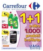 Carrefour volantino offerte 1+1