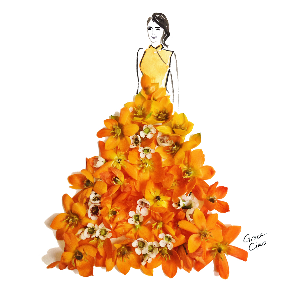 09-Festive-Nature-and-Grace-Ciao-Design-and-Draw-Dresses-with-Petals-www-designstack-co