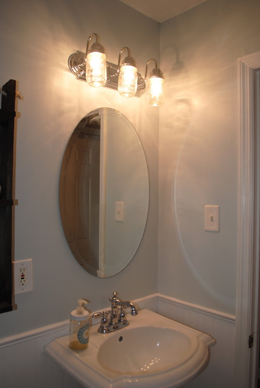 REVEAL: $100 Small Bathroom Makeover!!! (Tons of ideas for inexpensive  title=