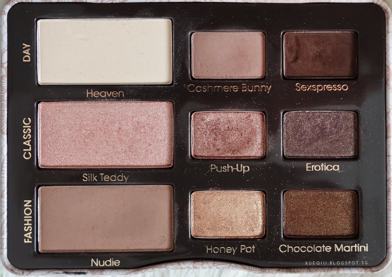 too faced natural eyes palette review and swatches. Black Bedroom Furniture Sets. Home Design Ideas