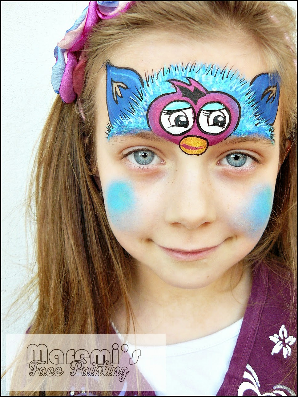 Maremi s face and body painting furby boom face painting malowanie